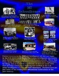 A Brief History of MI Training - Fort Huachuca - U.S. Army
