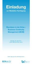 'Überleben in der Krise - Business Continuity Management' vom 5.4.11