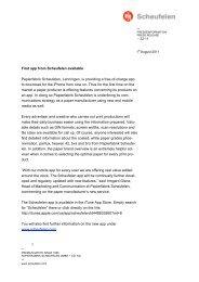 Download Press Release - Scheufelen