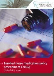 Enrolled Nurse Medication Policy Amendment - Upload Student ...