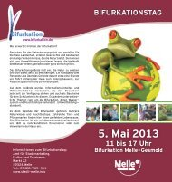 Flyer Bifurkationstag 2013 - Stadtmarketing-melle.de