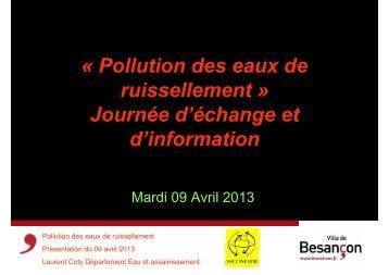 « Pollution des eaux de ruissellement » Journée d ... - Ascomade
