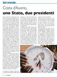 Costa d'Avorio, uno Stato, due presidenti - Stimmatini