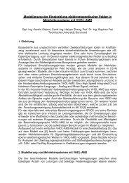 Modellierung der Einstrahlung elektromagnetischer Felder in ...