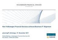 How Volkswagen Financial Services achieved Business IT ... - Alfabet