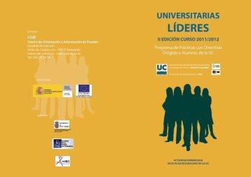 Triptico Universitarias Lideres - COIE - Universidad de Cantabria