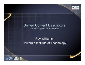 Unified Content Descriptors