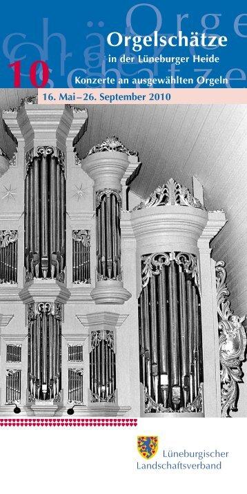 Orgelschätze - Lüneburgischer Landschaftsverband