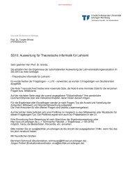 Vorlesung - Professur für Didaktik der Informatik - Friedrich ...