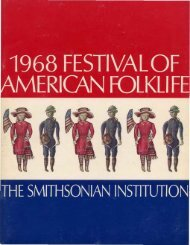 festival of - Smithsonian Center for Folklife and Cultural Heritage