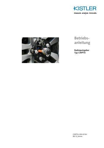 Betriebs- anleitung - Corrsys Datron