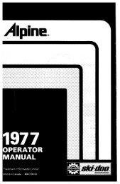 1977 Alpine - Vintage Snow