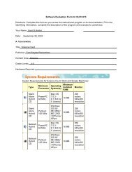 Software Evaluation Form for ELFH 673 Directions: Complete this ...