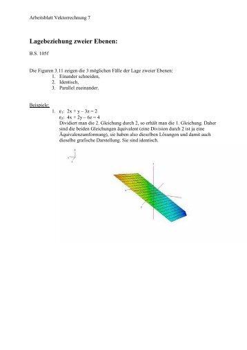 Aufgaben zu Ebenen - Mathe macht Spass!