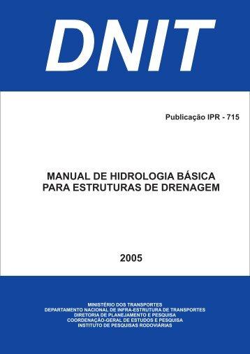 MANUAL DE HIDROLOGIA BÁSICA PARA ... - IPR - Dnit