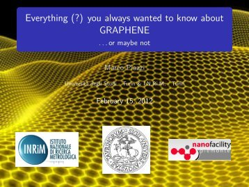 Everything (?) you always wanted to know about GRAPHENE - …or ...