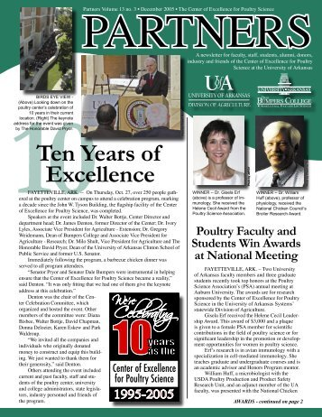 Ten Years of Excellence - Poultry Science - University of Arkansas