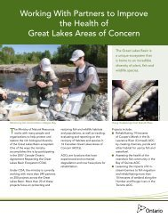 Working With Partners to Improve the Health of Great Lakes Areas of ...