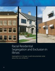 Racial Residential Segregation and Exclusion in Illinois - Institute of ...