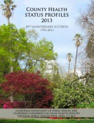 County Health Status Profiles 2013 - California Department of Public ...