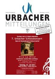 7. Urbacher Schlosskonzert - Gemeinde Urbach