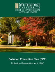 SAMPLE POLLUTION PREVENTION PLAN - Methodist University