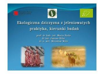 Ekologiczna dziczyzna z jeleniowatych - Państwowa Wyższa Szkoła ...