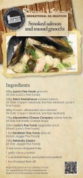 Smoked salmon and mussel gnocchi - Food South Australia