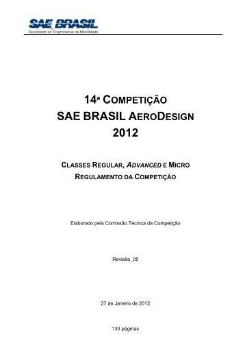 Regulamento SAE Aerodesign 2012 - UFSC Aerodesign