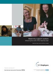 Maternity support workers: enhancing the work of ... - NHS Employers