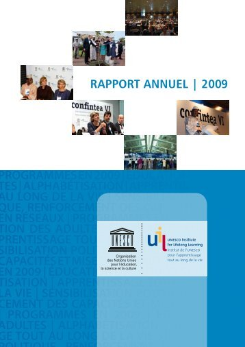 Rapport annuel 2009.pdf - UNESCO Institute for Lifelong Learning