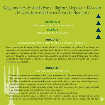 Regulamento de Salubridade, Higiene, Limpeza e Recolha de Res ...
