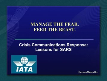 MANAGE THE FEAR. FEED THE BEAST.
