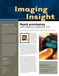 Rapid prototyping with Matrox Inspector 4.0