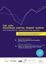 The 16th Malaysian Capital Market Summit - Asian Strategy ...