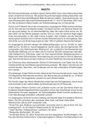 Chronik der Gemeinde Warth für das Jahr 2007 - Vorarlberger ...