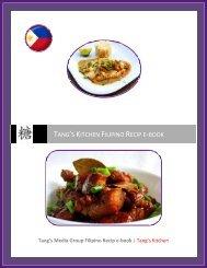 TANG'S KITCHEN FILIPINO RECIP