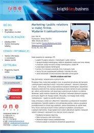Marketing i public relations w małej firmie. Wydanie II ... - Structum