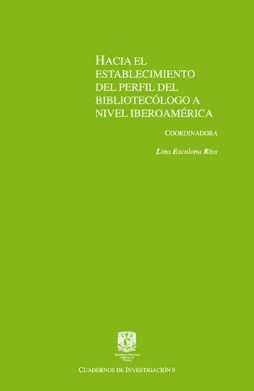 Libro: Hacia el establecimiento del perfil del ... - Biblioteca