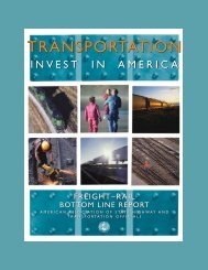 Freight Rail Bottom Line Report - Cambridge Systematics