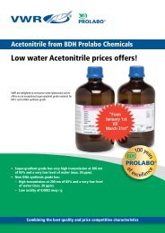 Low water Acetonitrile prices offers! - VWR-International GmbH