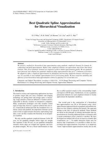 Best Quadratic Spline Approximation for Hierarchical Visualization