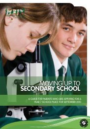 moving up to secondary school - Buckinghamshire County Council