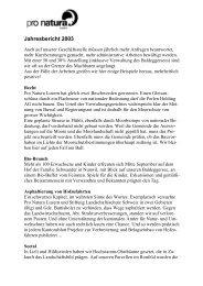 Jahresbericht 2003 - Pro Natura Luzern