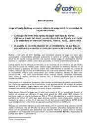 Llega a España Cashlog, un nuevo sistema de pago móvil sin ...