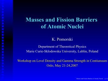 Isotope practice element atomic number mass number protons masses and fission barriers of atomic nuclei urtaz Gallery