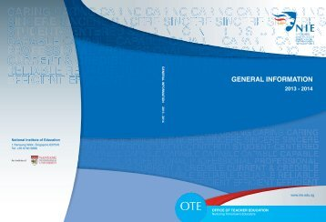 general information - NIE Digital Repository - National Institute of ...