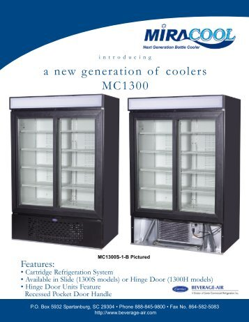 a new generation of coolers MC1300