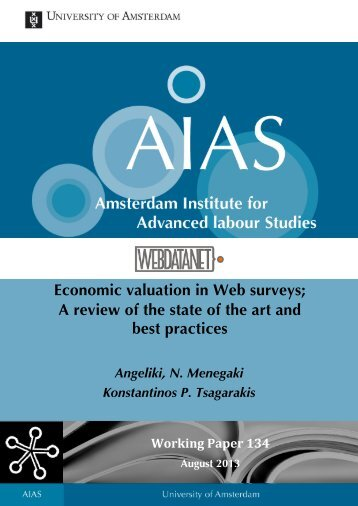 Economic valuation in Web surveys; A review of the state of ... - AIAS