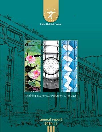 annual report 2010-11 - India Habitat Centre